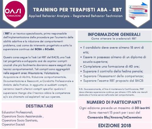 Training per terapisti ABA – RBT